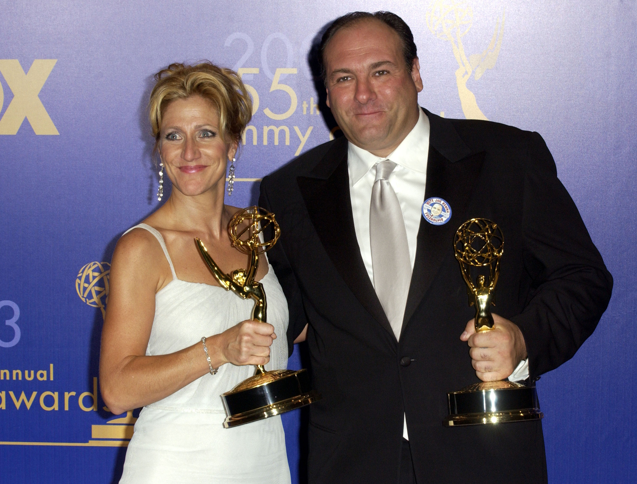 James Gandolfini and Edie Falco at an event for The 55th Annual Primetime Emmy Awards (2003)