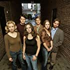 Jessica Collins, A.J. Cook, Eliza Dushku, Heath Freeman, Zach Galifianakis, and Shawn Reaves in Tru Calling (2003)