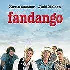 Kevin Costner, Judd Nelson, Chuck Bush, Brian Cesak, and Sam Robards in Fandango (1985)