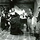 Marlene Dietrich, Joe Dominguez, and Frank Ferguson in Rancho Notorious (1952)