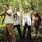 Jeff Fahey, Daniel Dae Kim, Emilie de Ravin, Jorge Garcia, and Yunjin Kim in Lost (2004)