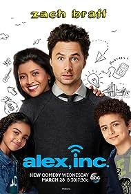 Zach Braff, Tiya Sircar, Elisha Henig, and Audyssie James in Alex, Inc. (2018)