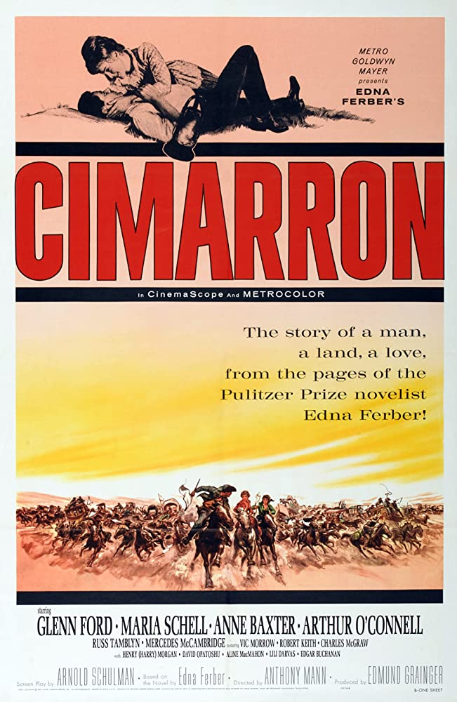 Glenn Ford and Maria Schell in Cimarron (1960)