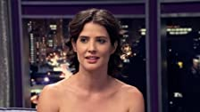 Cobie Smulders Wears a Black & White Strapless Dress
