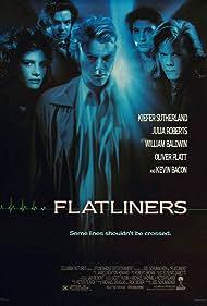 Kevin Bacon, Julia Roberts, William Baldwin, Kiefer Sutherland, and Oliver Platt in Flatliners (1990)