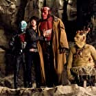 Ron Perlman, Selma Blair, John Alexander, and Doug Jones in Hellboy II: The Golden Army (2008)
