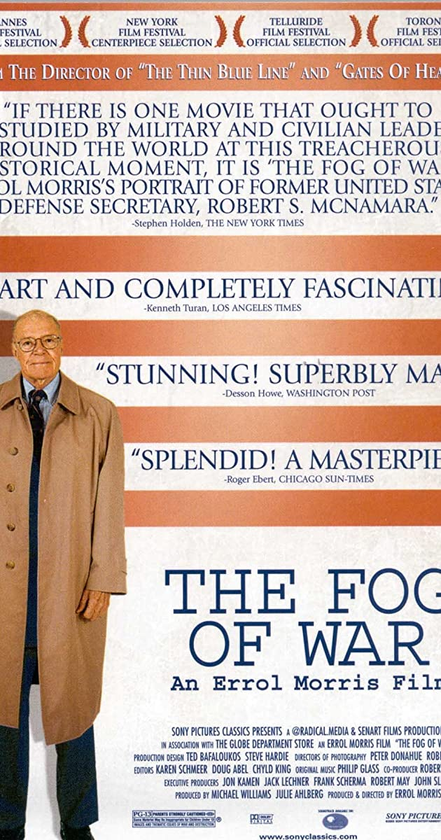 Subtitle of The Fog of War: Eleven Lessons from the Life of Robert S. McNamara