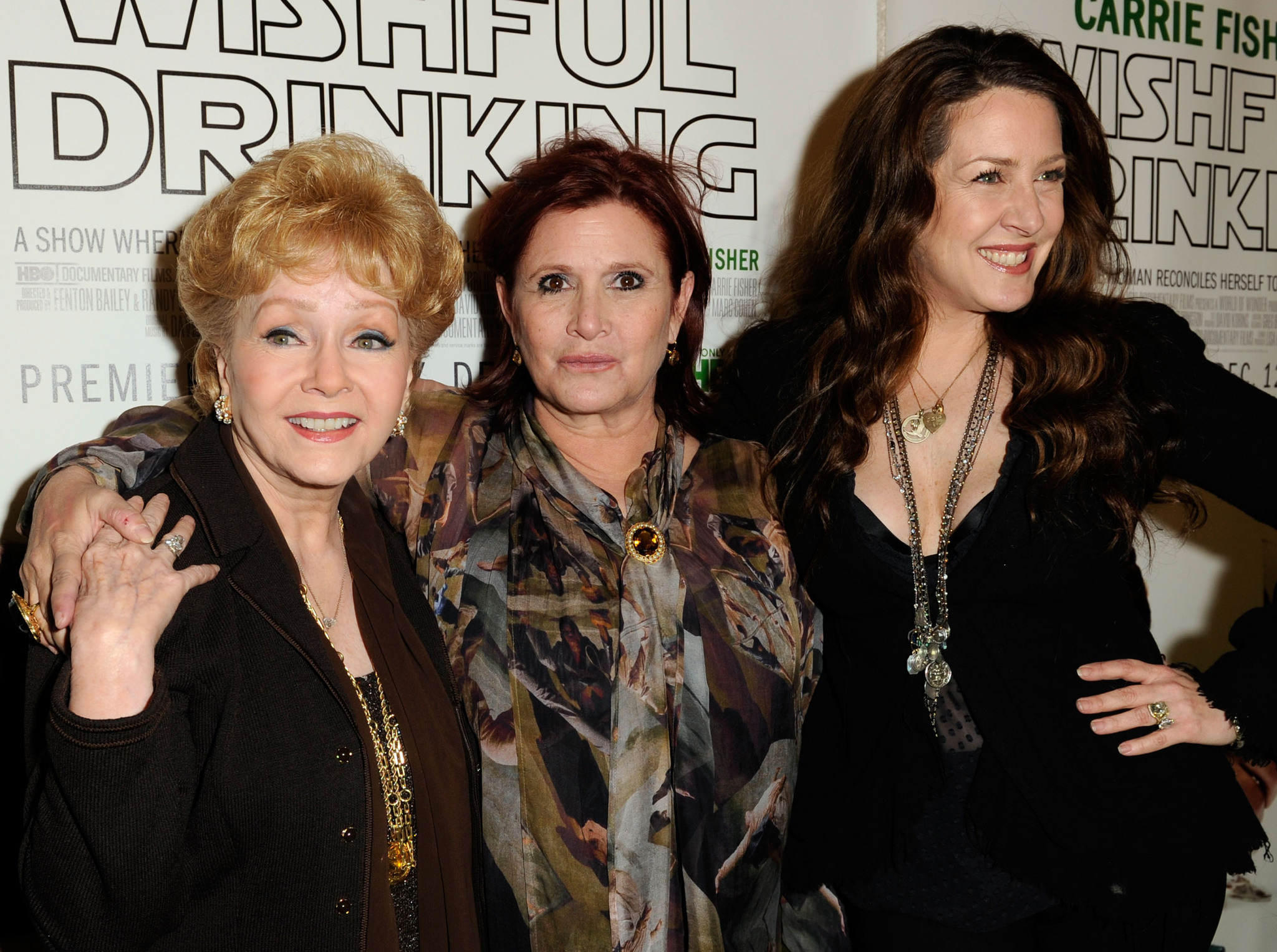 Carrie Fisher, Debbie Reynolds, and Joely Fisher at an event for Carrie Fisher: Wishful Drinking (2010)