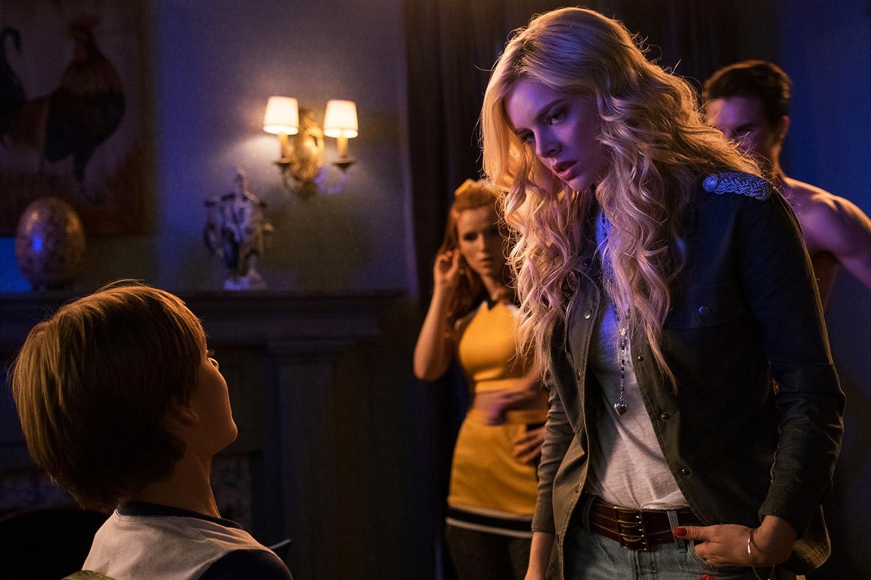 Robbie Amell, Bella Thorne, Samara Weaving, and Judah Lewis in The Babysitter (2017)