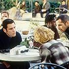 Jim Carrey, Ben Stiller, and Leslie Mann in The Cable Guy (1996)