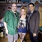 David Zayas, Stacia Crawford, Ralph Macchio on the set of Lost Cat Corona