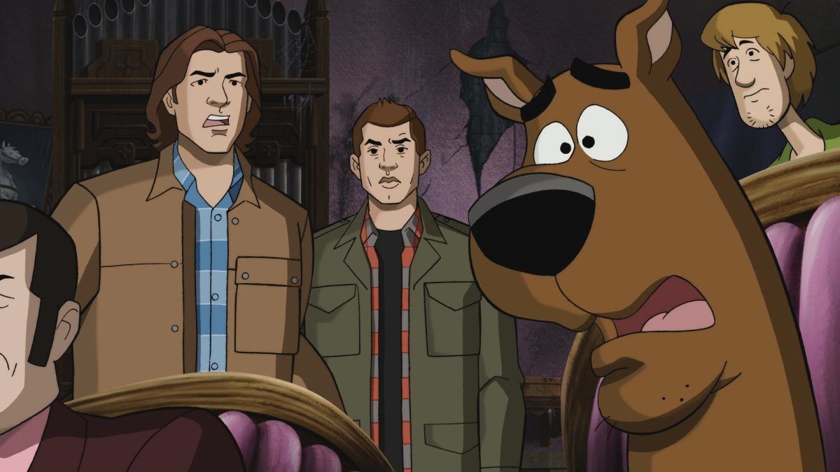Matthew Lillard, Jensen Ackles, Jared Padalecki, and Frank Welker in Supernatural (2005)