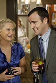 Amy Poehler and Justin Theroux in Parks and Recreation (2009)