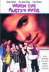 Sandra Bullock, Elizabeth Berridge, Rae Dawn Chong, Paul Johansson, Kris Kamm, and Brian McNamara in When the Party's Over (1992)