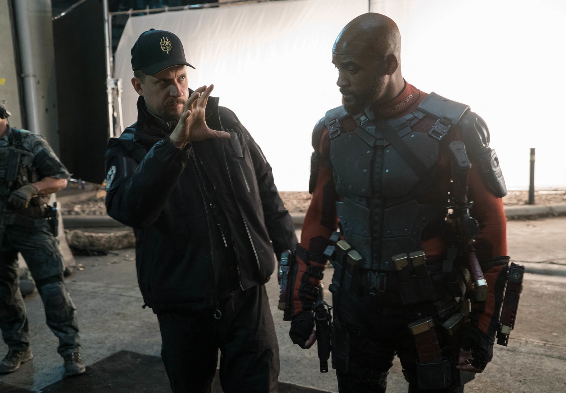 Will Smith and David Ayer in Suicide Squad (2016)