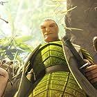 Grub (Chris O'Dowd), Mub (Aziz Ansari), Ronin (Colin Farrell) and Nod (Josh Hutcherson) prepare to aid a fallen comrade.