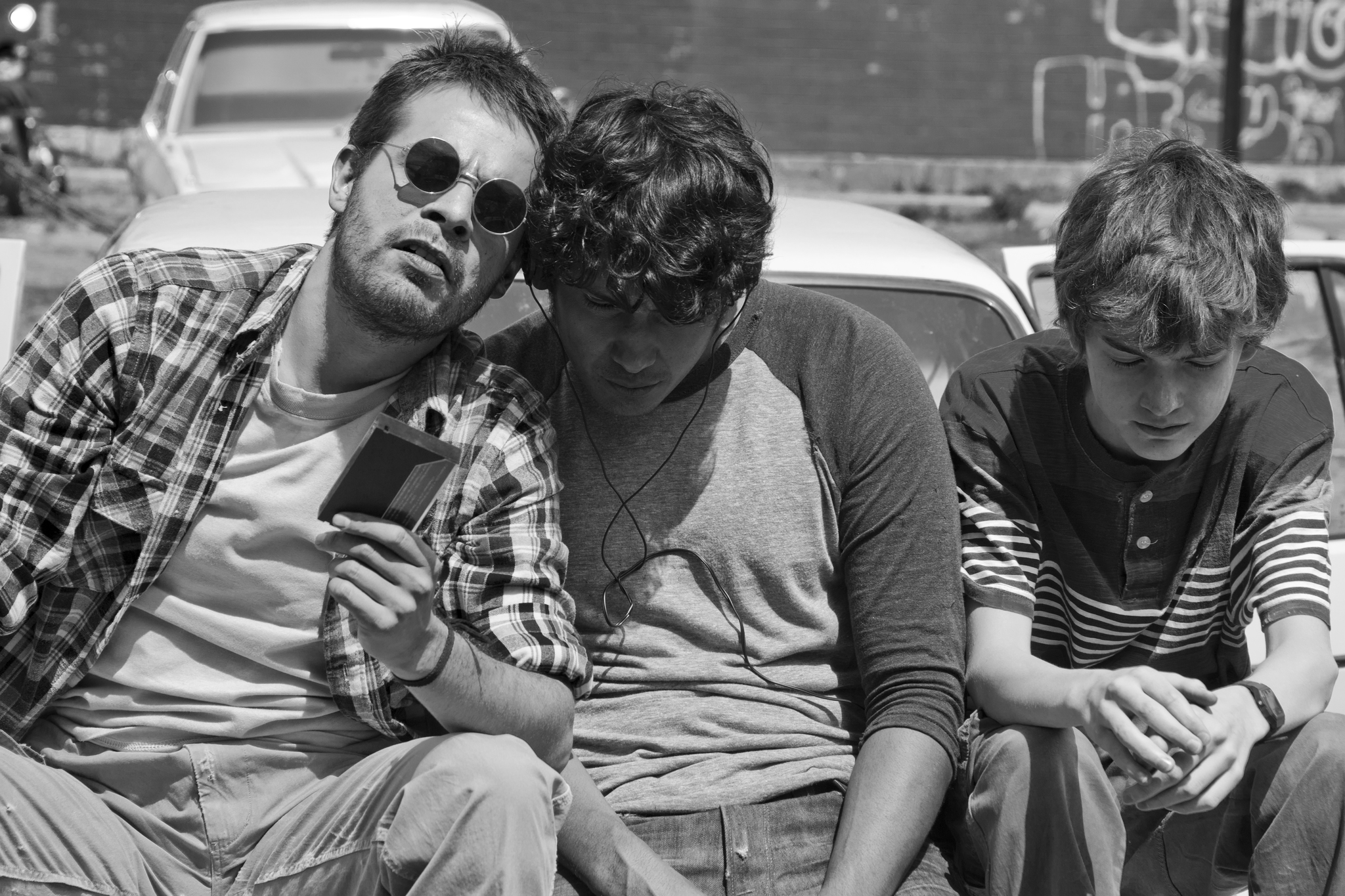 Leonardo Ortizgris, Tenoch Huerta, and Sebastián Aguirre in Güeros (2014)