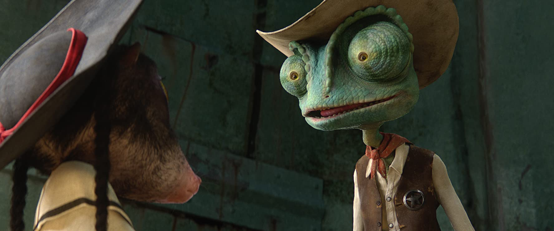 Johnny Depp and Abigail Breslin in Rango (2011)