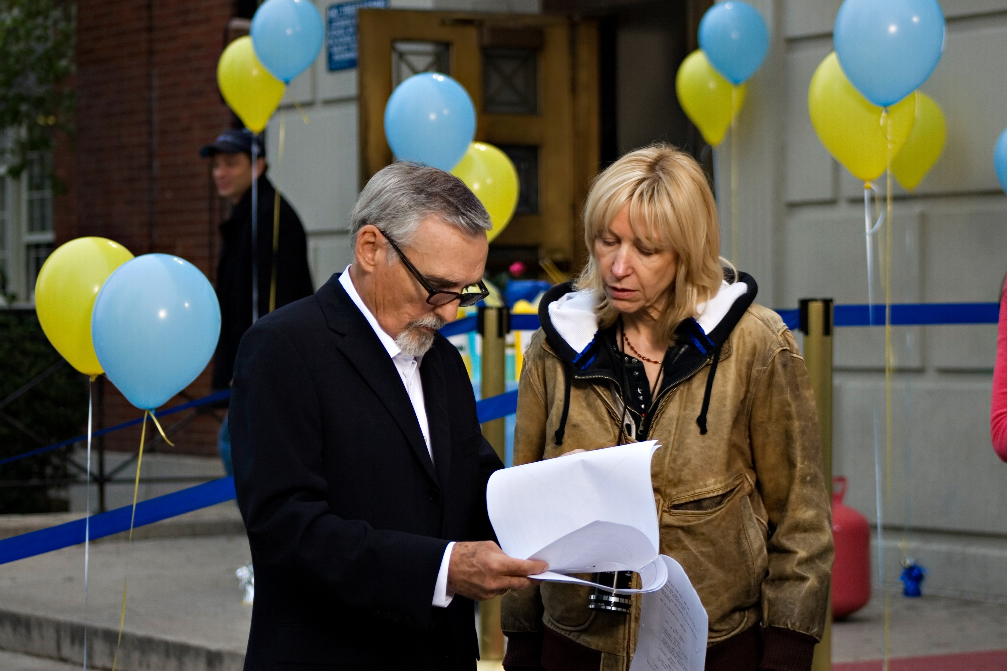 With Dennis Hopper on the set of The Last Film Festival.