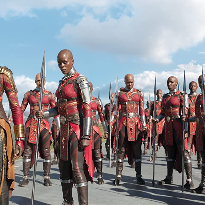 Florence Kasumba, Danai Gurira, and Sydelle Noel in Black Panther (2018)
