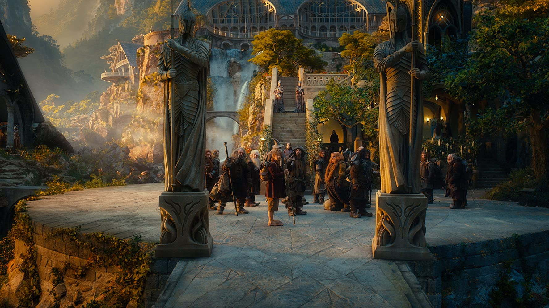 Jed Brophy, John Callen, Martin Freeman, Mark Hadlow, Peter Hambleton, William Kircher, Graham McTavish, James Nesbitt, Dean O'Gorman, Ken Stott, Stephen Hunter, Bret McKenzie, Aidan Turner, and Adam Brown in The Hobbit: An Unexpected Journey (2012)
