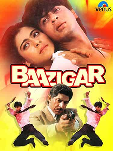 Kajol and Shah Rukh Khan in Baazigar (1993)