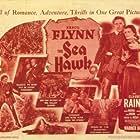 Errol Flynn, Claude Rains, Alan Hale, and Brenda Marshall in The Sea Hawk (1940)