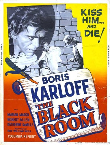 Boris Karloff, Katherine DeMille, and Marian Marsh in The Black Room (1935)