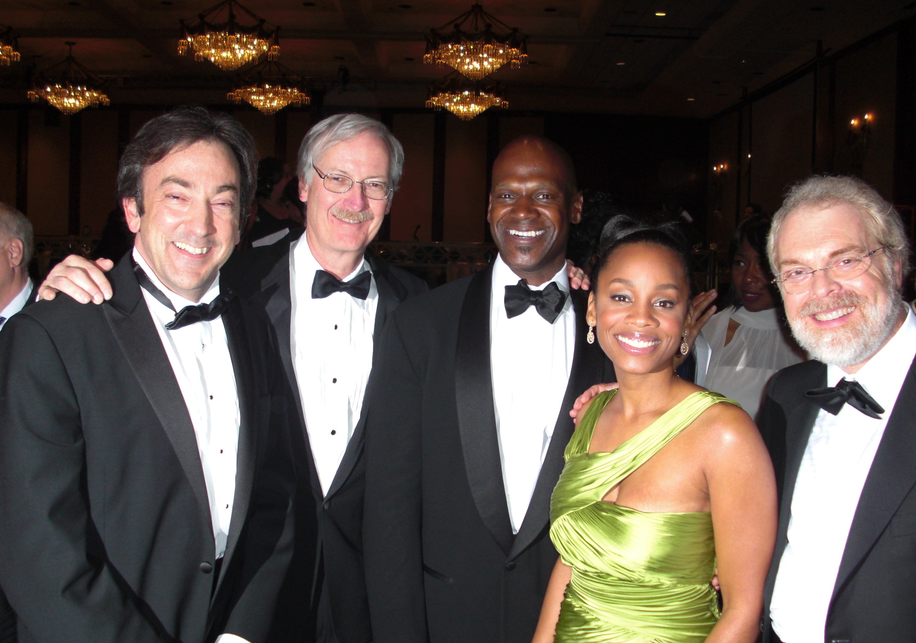 Ron Clements, John Musker, Anika Noni Rose, Rob Edwards, and Peter Del Vecho