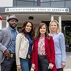 Lauren Holly, Kellie Martin, Viv Leacock, and Lucia Walters in Killer Sentence (2019)