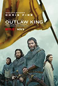 Tony Curran, Aaron Taylor-Johnson, Chris Pine, and Florence Pugh in Outlaw King (2018)