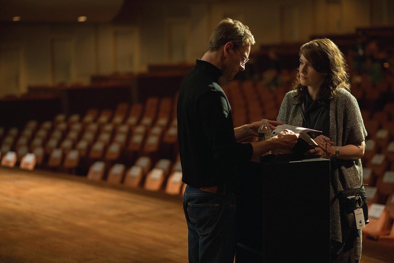 Kate Winslet and Michael Fassbender in Steve Jobs (2015)
