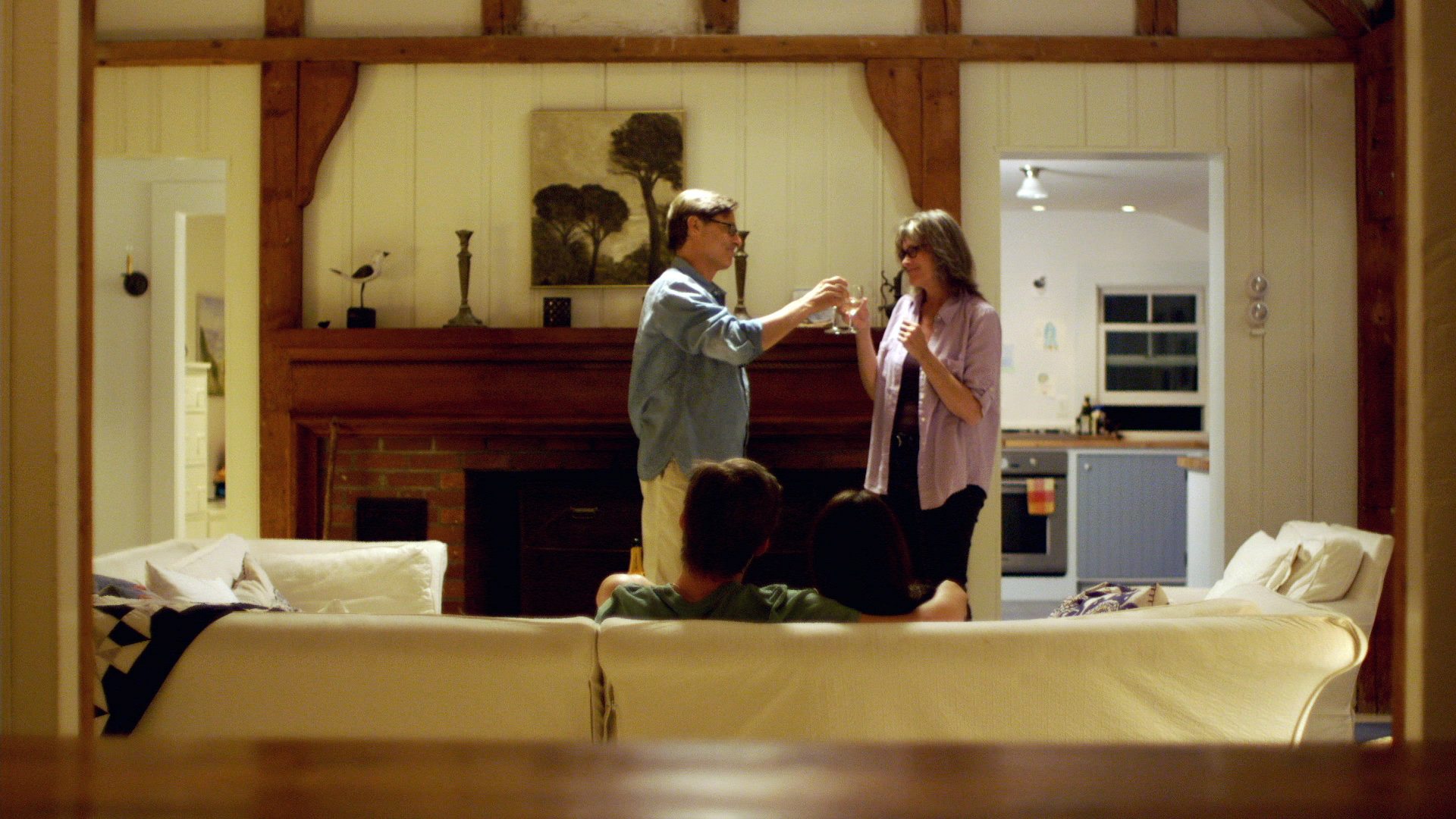 Nicholas Guest, Pamela Guest, Tyler Johnson, and Carly Foulkes in Halfway Somewhere Else (2013)