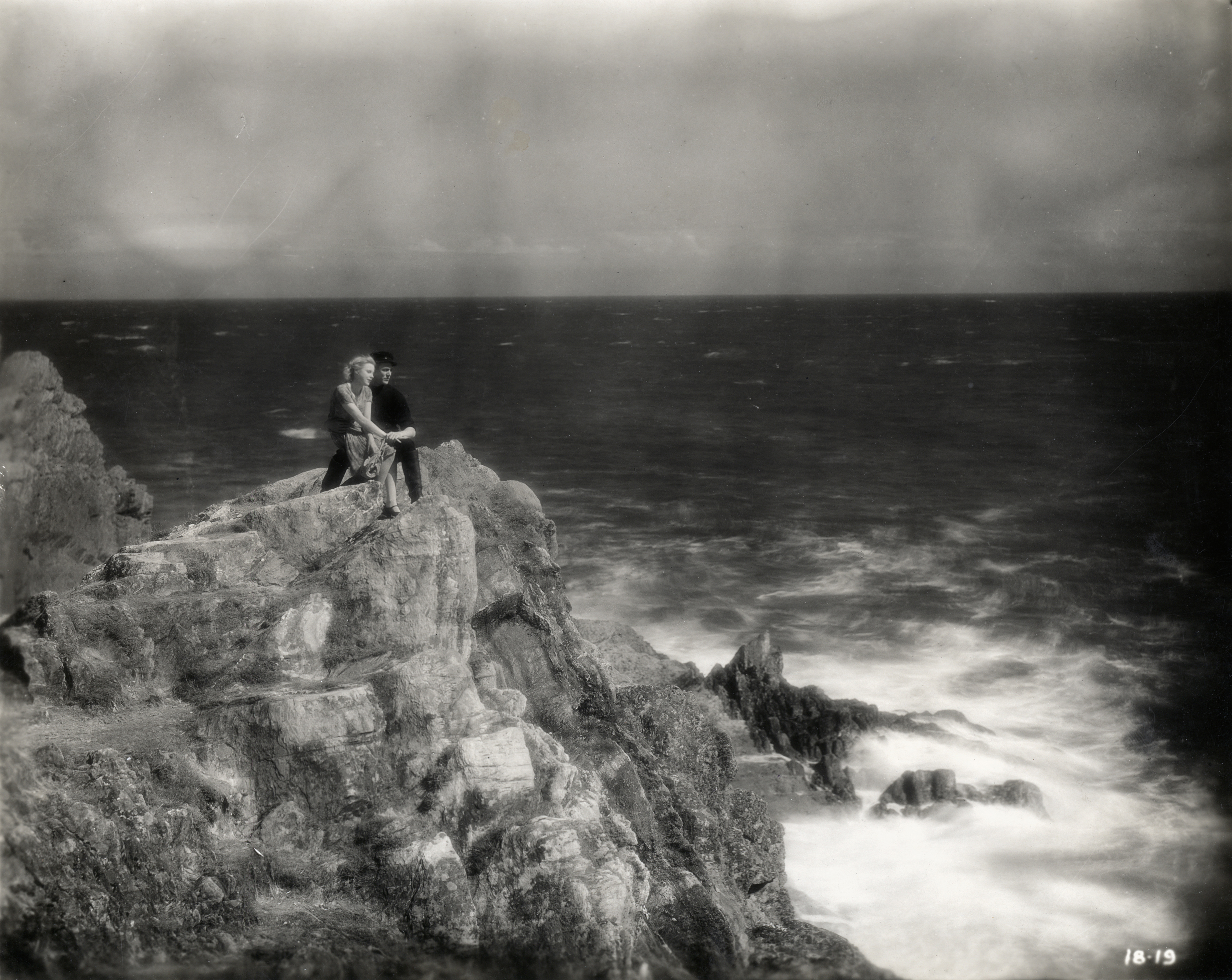 Malcolm Keen and Anny Ondra in The Manxman (1929)