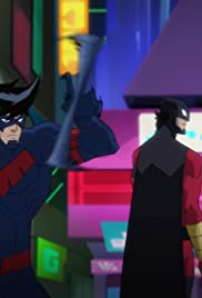 Red Robin and Nightwing Take Down Killer Croc Poster