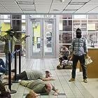 Jesse Eisenberg, Rick Irwin, Sam Tedesco, Aziz Ansari, and Rebecca Cox in 30 Minutes or Less (2011)