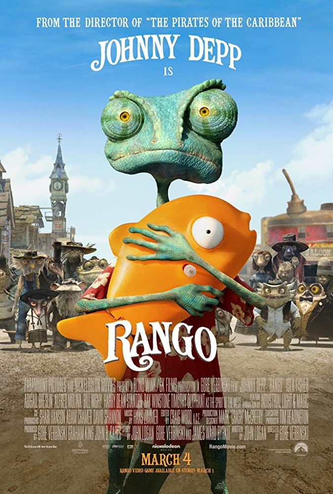 Rango 2011 Hindi Dual Audio 720p BluRay ESub 800MB x264 AAC