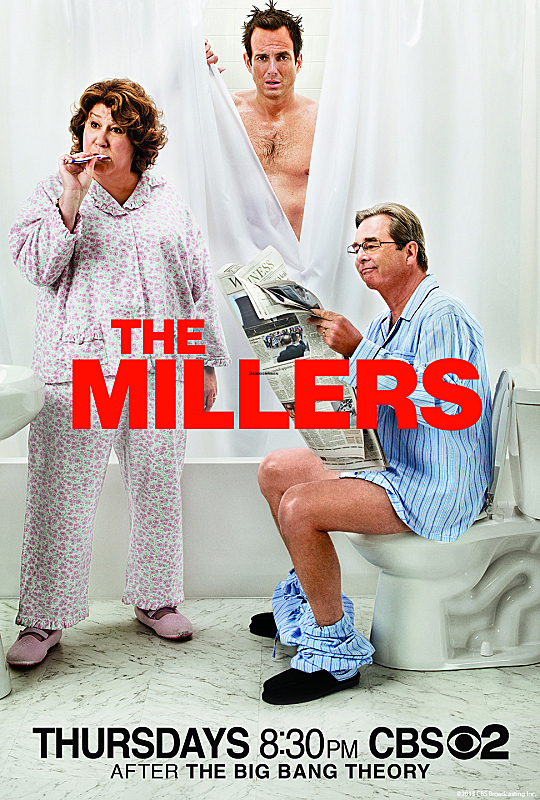 Beau Bridges, Will Arnett, and Margo Martindale in The Millers (2013)