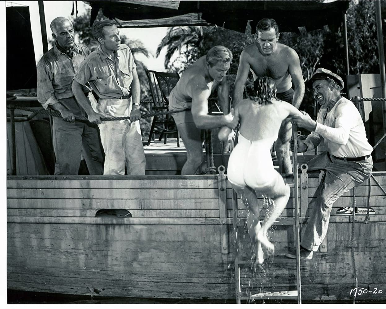 Whit Bissell, Julie Adams, Richard Carlson, Richard Denning, Antonio Moreno, and Nestor Paiva in Creature from the Black Lagoon (1954)