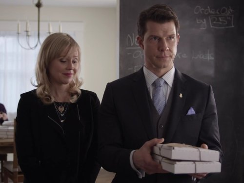 Kristin Booth and Eric Mabius in Signed, Sealed, Delivered (2014)