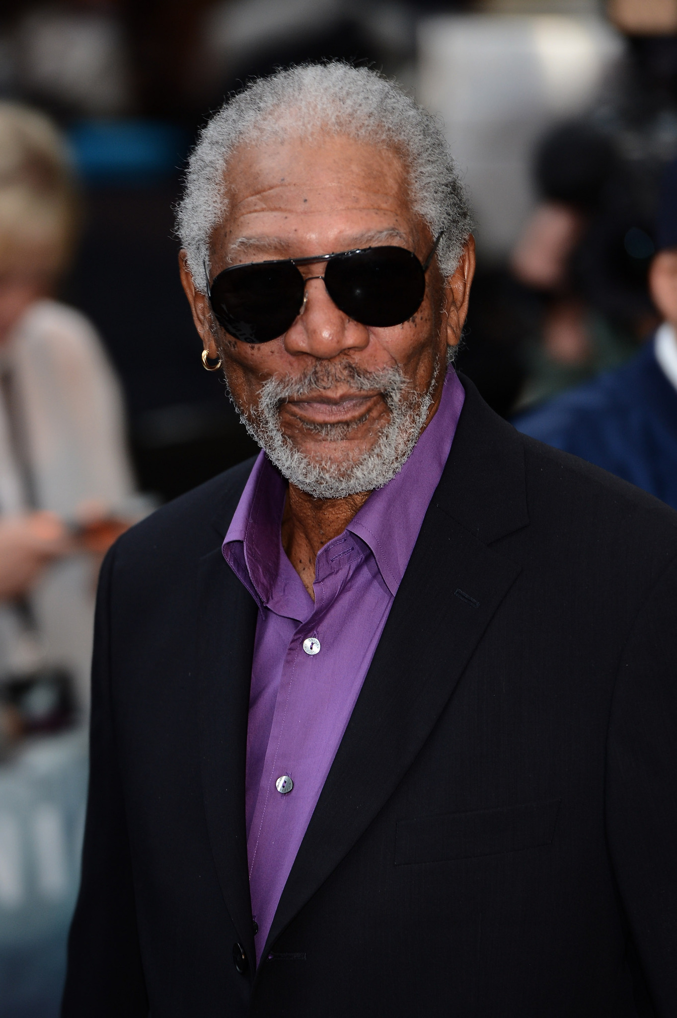 Morgan Freeman at an event for The Dark Knight Rises (2012)