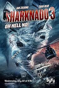 David Hasselhoff, Frankie Muniz, Tara Reid, Ian Ziering, Ryan Whitney, and Cassandra Scerbo in Sharknado 3: Oh Hell No! (2015)