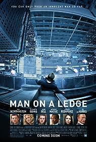 Ed Harris, Elizabeth Banks, Jamie Bell, Sam Worthington, Anthony Mackie, and Genesis Rodriguez in Man on a Ledge (2012)