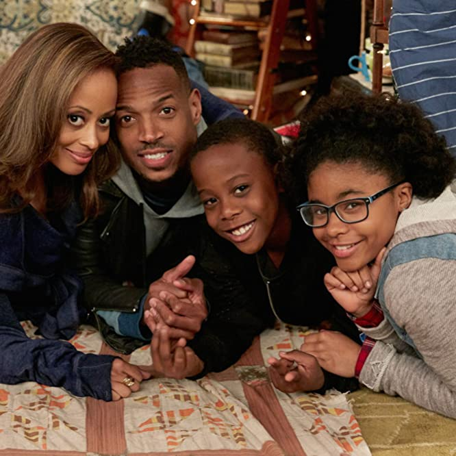 Marlon Wayans, Essence Atkins, Notlim Taylor, and Amir O'Neil in Marlon (2017)