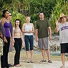 Vince Vaughn, Jason Bateman, Kristin Davis, Malin Akerman, Kristen Bell, Faizon Love, and Kali Hawk in Couples Retreat (2009)