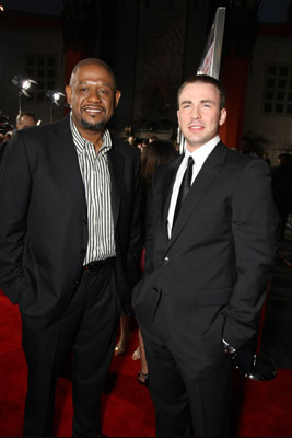 Forest Whitaker and Chris Evans at an event for Street Kings (2008)