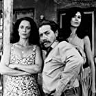 Maria Conchita Alonso, Sônia Braga, and Edward James Olmos in Roosters (1993)