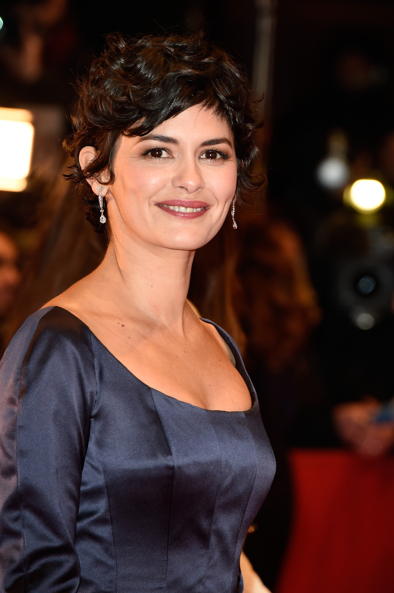 Audrey Tautou at an event for Nadie quiere la noche (2015)