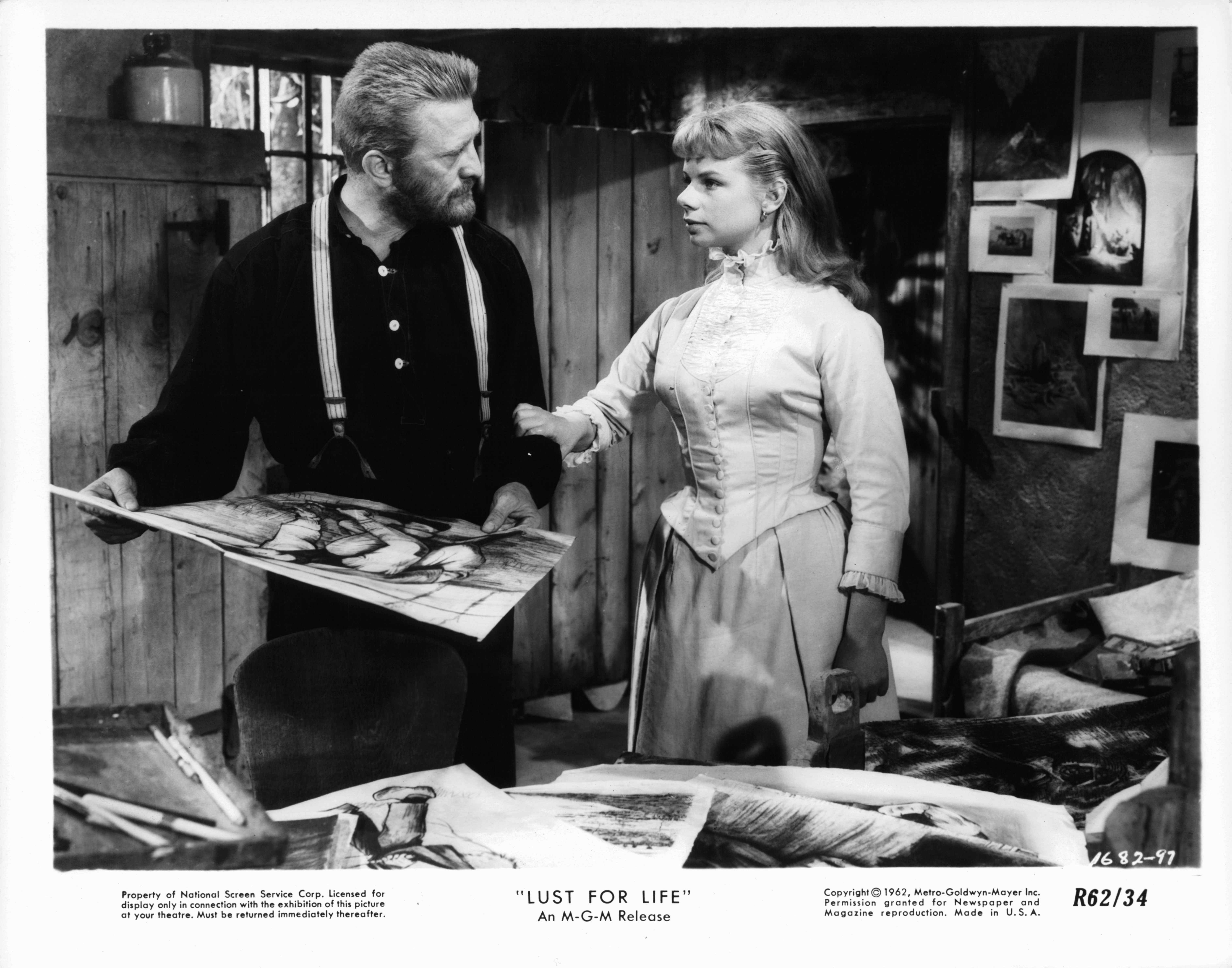 Kirk Douglas and Jill Bennett in Lust for Life (1956)