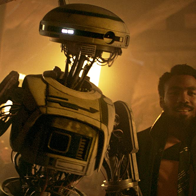 Donald Glover and Phoebe Waller-Bridge in Solo: A Star Wars Story (2018)